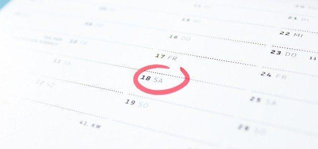 Kalendarz z zaznaczoną datą